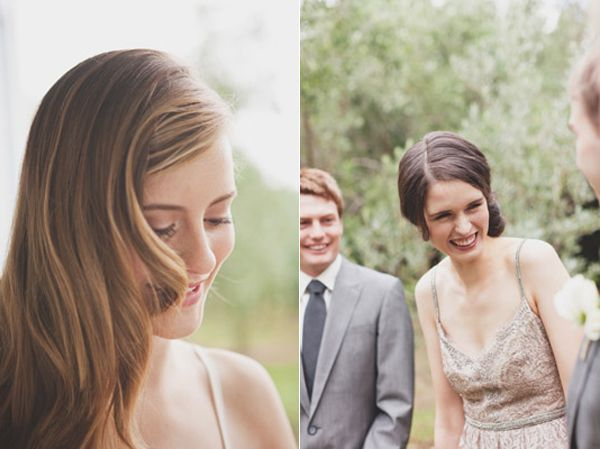 Laughing Wedding Party