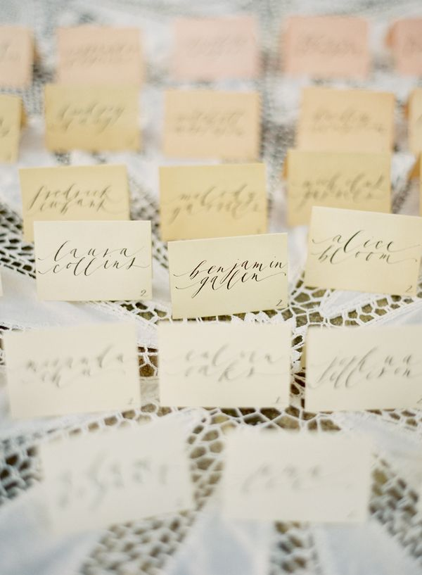 Ombre Dyed Escort Cards