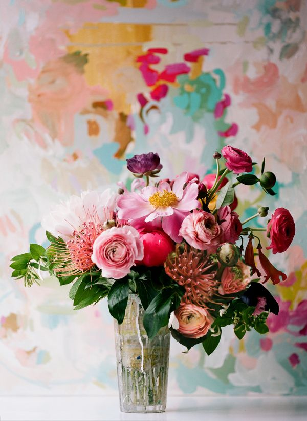 Painterly Flower Arrangement - Once Wed