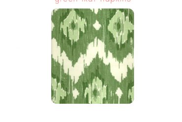 Pink Green Table Linens