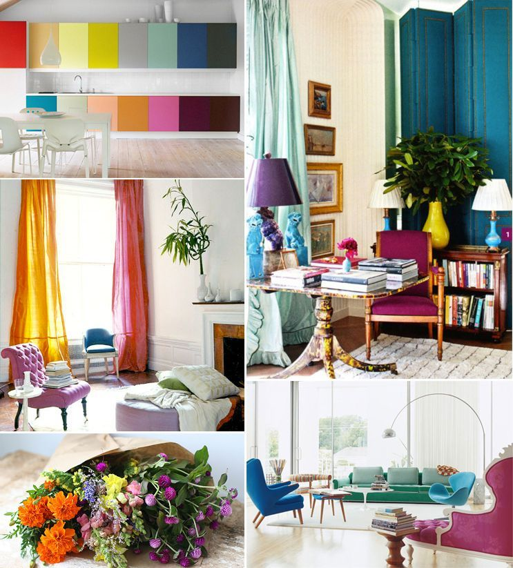Super Colorful Interiors