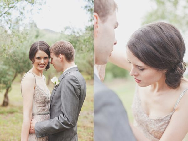 Taupe Bride And Groom