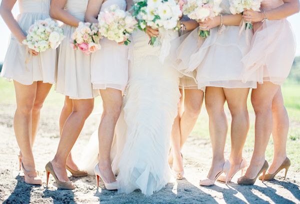 Real Bridesmaids In Our Stunning And Elegant Bridesmaid: Romantic And Elegant Outdoor Wedding