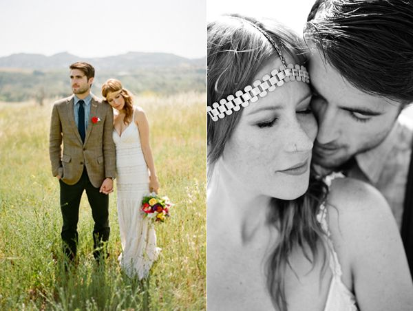 Wildflower Field Bride Groom