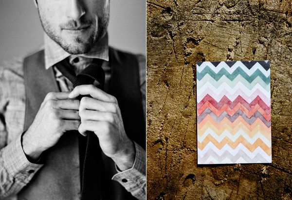 Zig Zag Wedding Invitation