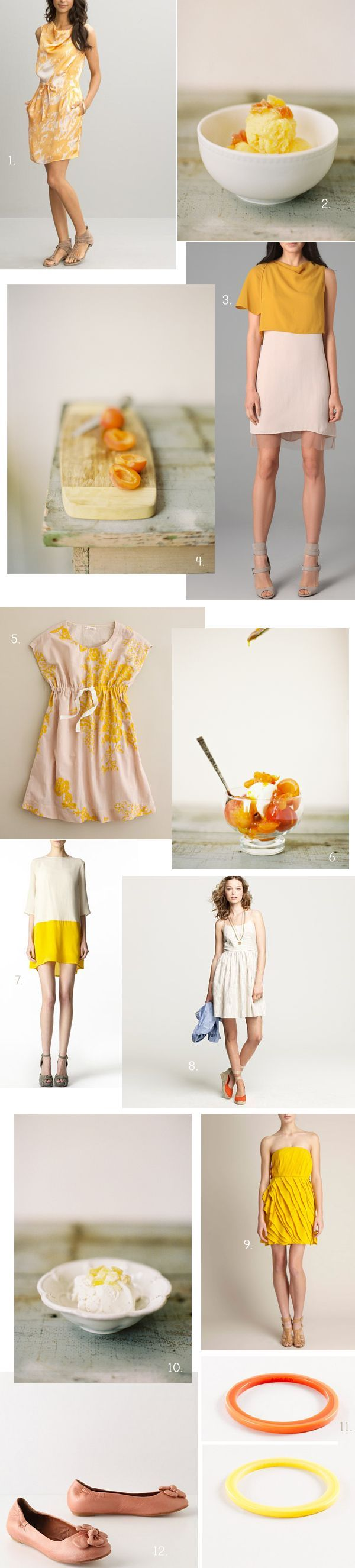 INSPIRATION: Apricots & Ice Cream Wedding Ideas