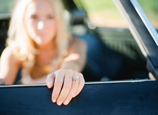 Black Camero Custom Engagement Ring