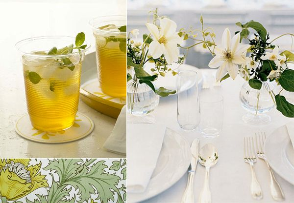 Simple Summery Green Wedding Table - Once Wed
