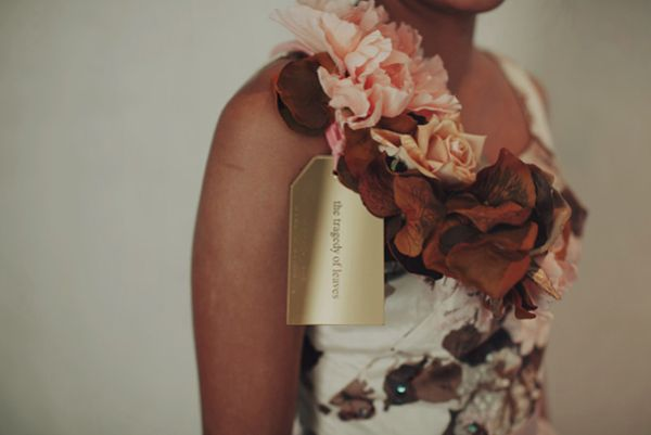 Autumn Bridesmaid Golden Inscription