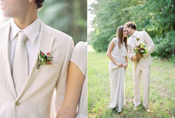 Blackberry Bout Linen Suit Groom