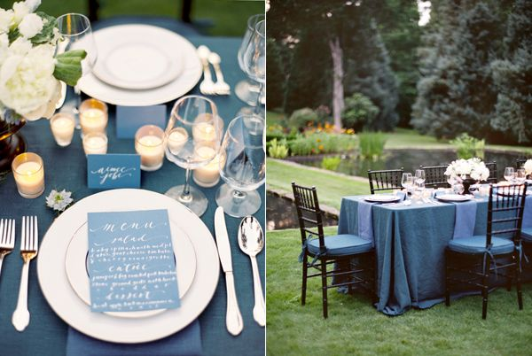 Blue Wedding Reception Table Ideas