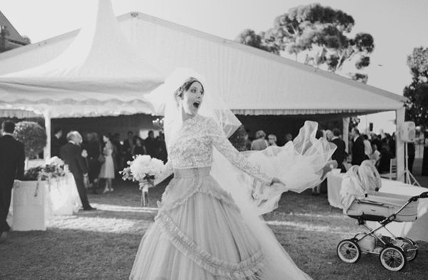 Bride At Tented Reception