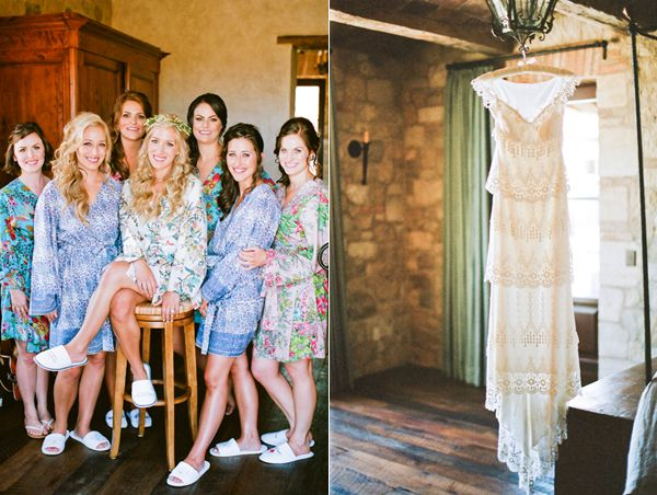 Bridesmaids Matching Robes Claire Pettibone Gown