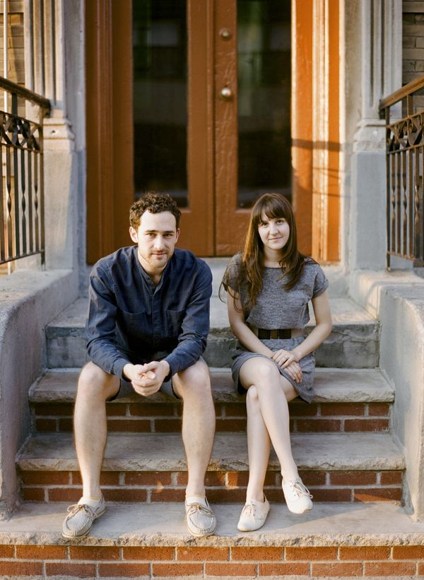 Brooklyn Couple Front Stoop