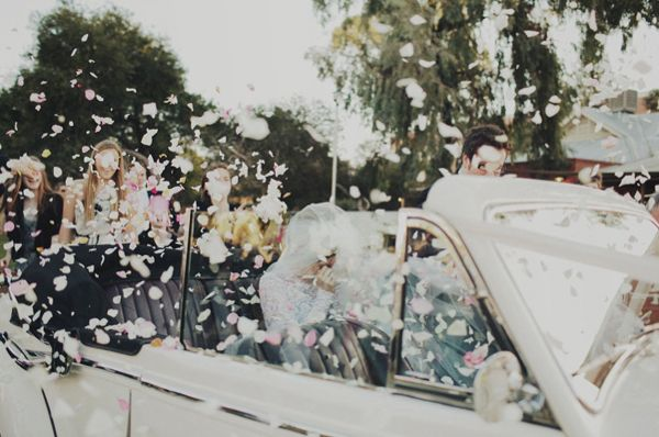 Classic Car Rose Petals Everywhere