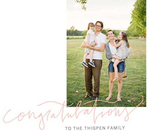 Congratulations Thigpens Post