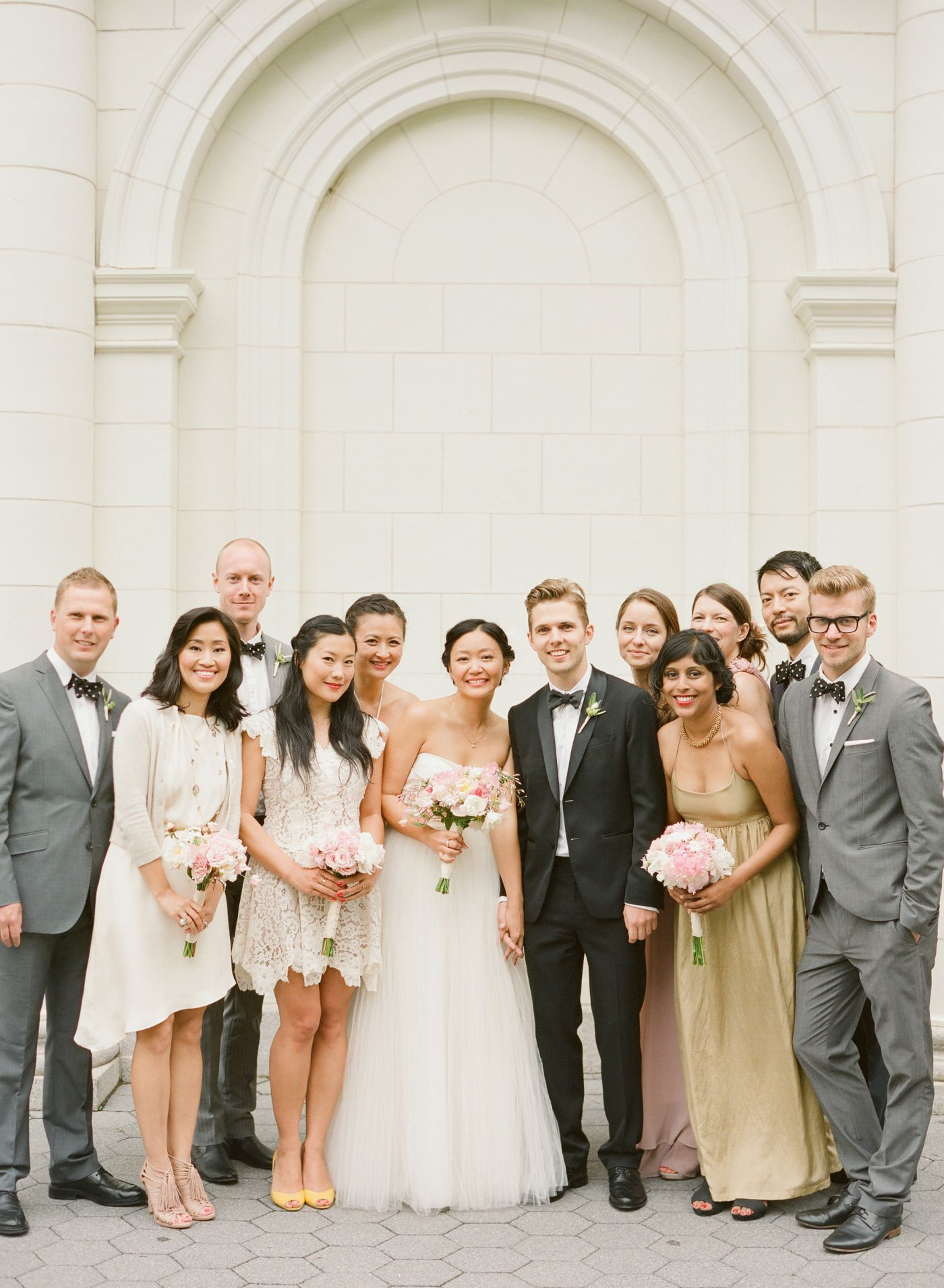 Elegant Wedding Party Picture