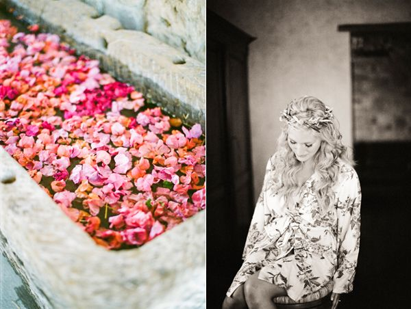 Floating Bougainvilla Bride Robe