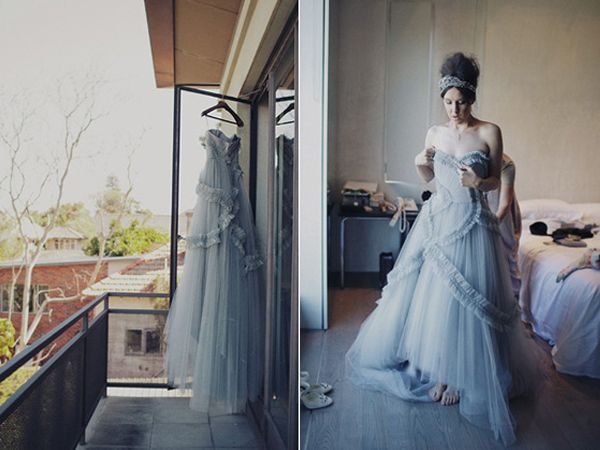 Grey Gray Wedding Dress