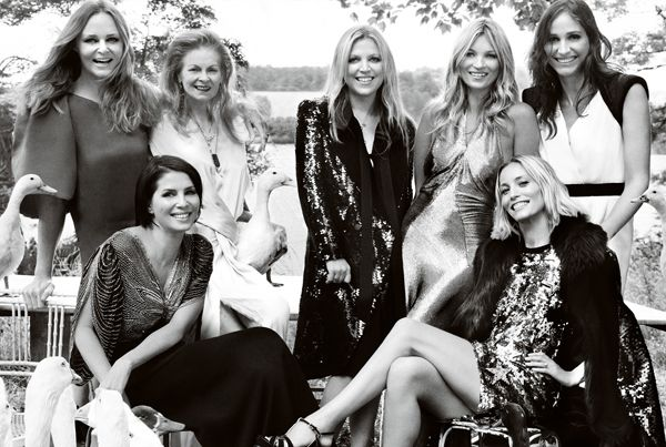 Kate Moss With Her Matrons Of Honor