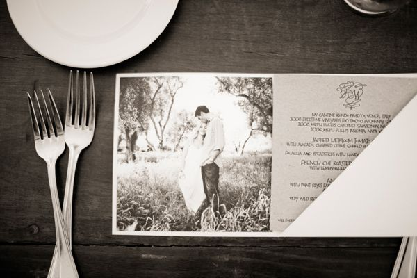 Menu With Engagement Photo