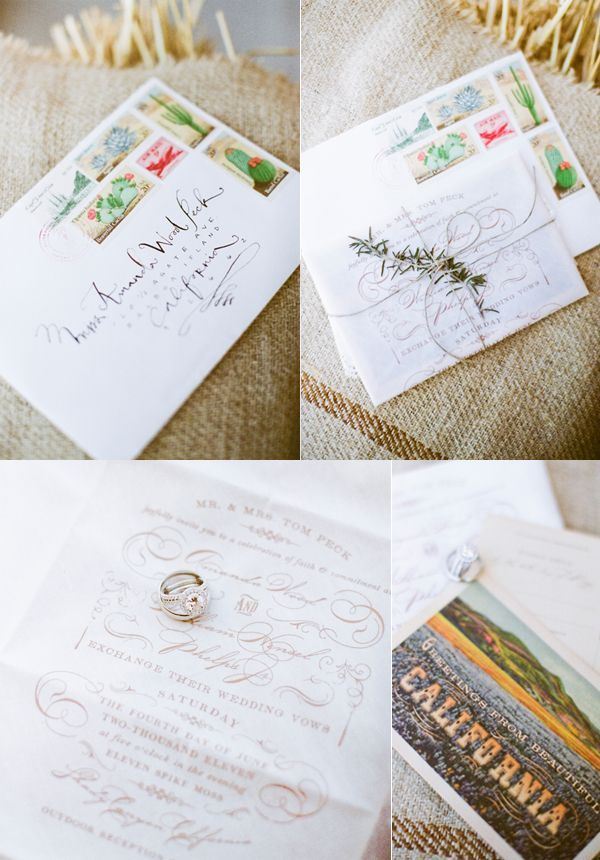 Old California Wedding Invitation Suite