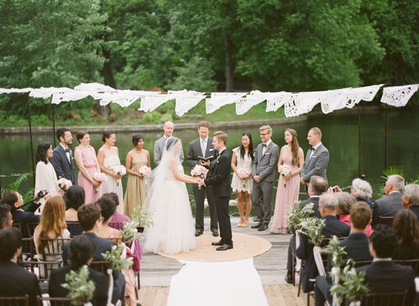 outdoor wedding on the water once wed