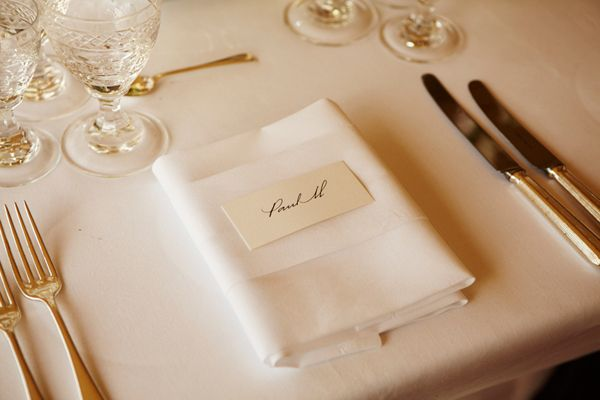 Simple Elegant Place Setting For Paul Mccartney