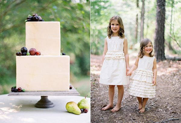 Simple Square Fondant Cake Fresh Fruit Jcrew Flowergirls