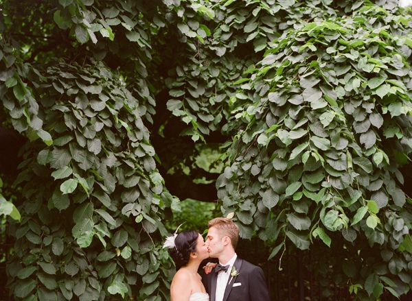 Vine Covered Wall Bride Groom