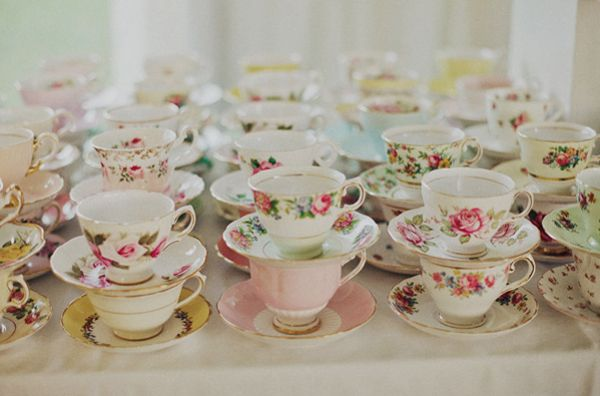 Vintage Mix Matched Tea Cups