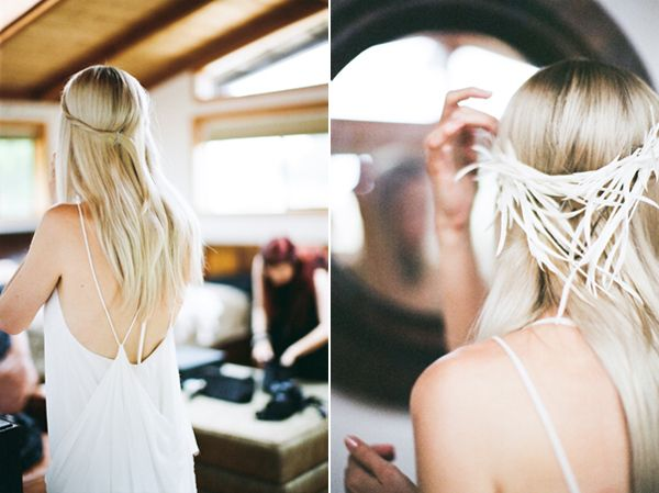 Feather Hair Wedding Ideas