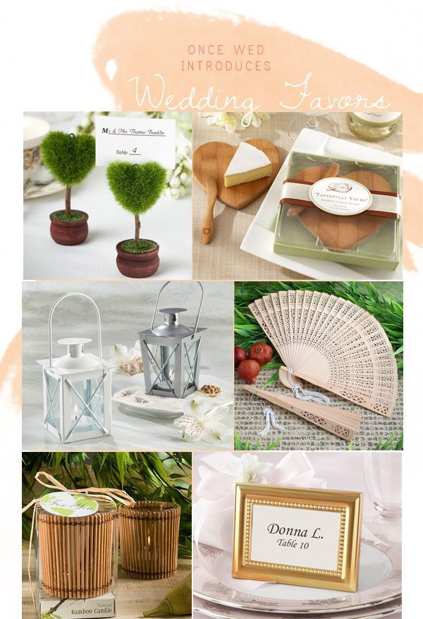 Wedding Ideas Giveaways : Wedding Favors - Once Wed