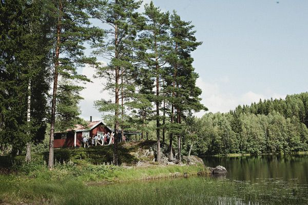 Red Swedish Wedding Cottage