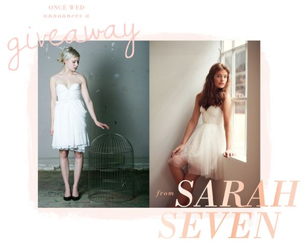 Win a Wedding Dress From Sarah Seven!