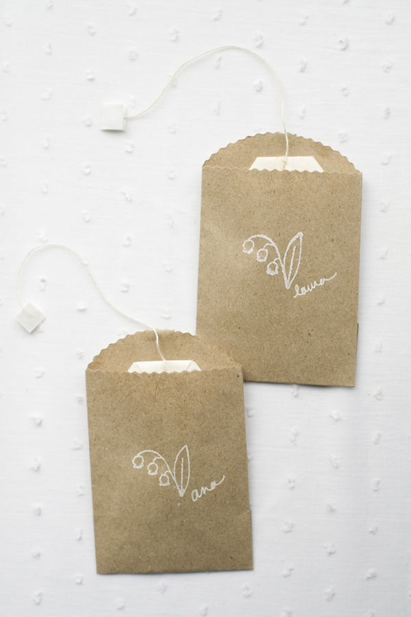 A Modern Country Wedding Tea Favors Once Wed