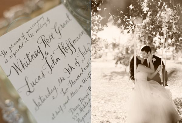 Diy Calligraphy Wedding Invititation