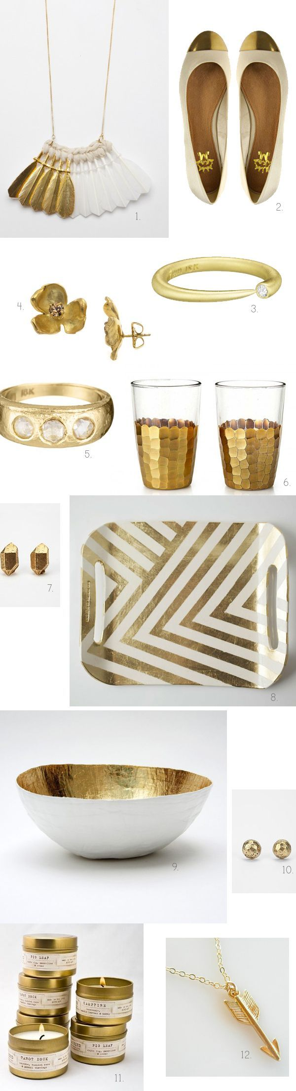 bone white and gold wedding ideas
