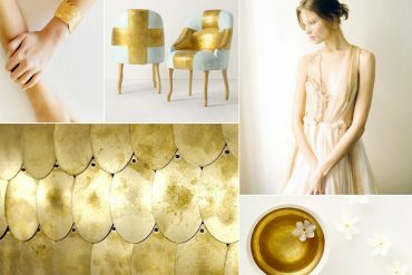 Parchment White Metallic Gold Wedding Ideas