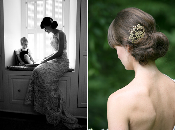 Gold Wedding Hairpiece