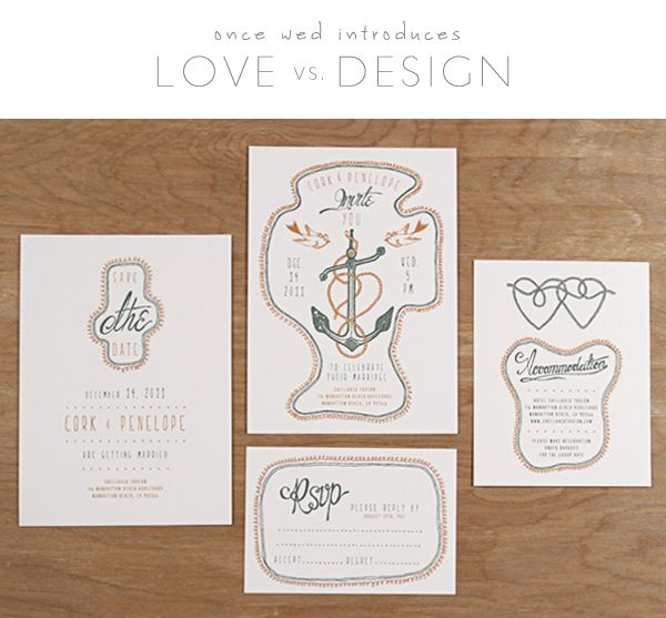 Love vs. Design Wedding Stationery