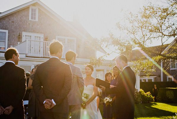 Sunset Nantucket Wedding