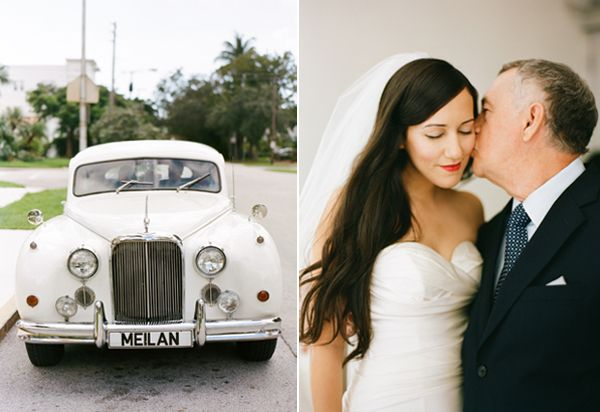 White Wedding Getaway Car Ideas