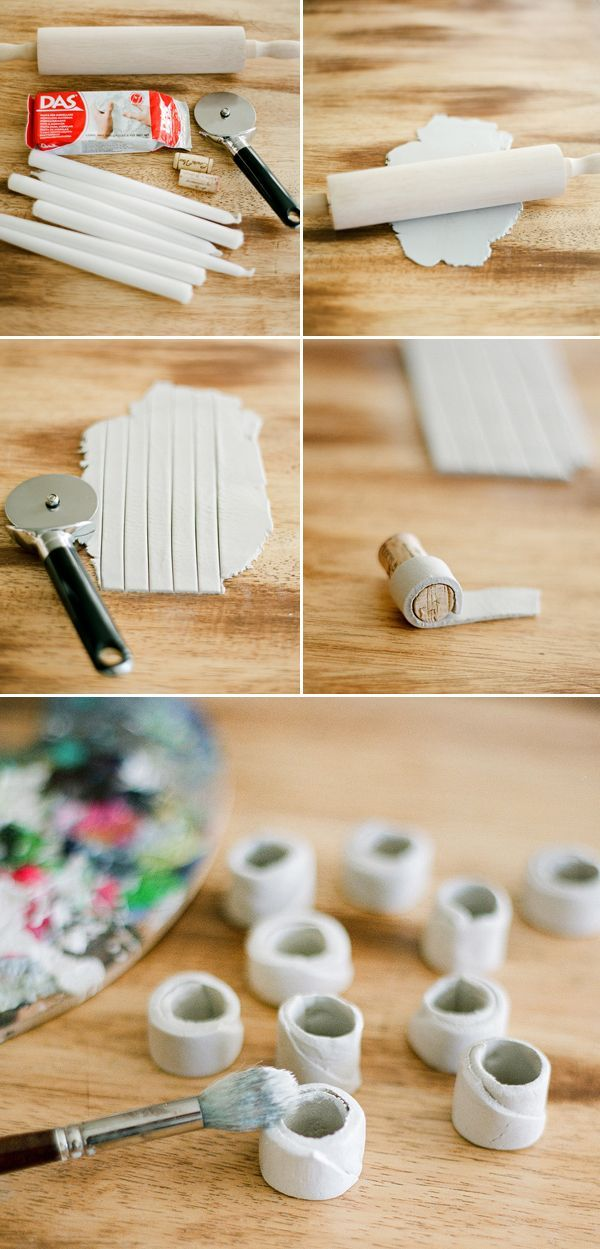 DIY Tutorial Simple Candleholders