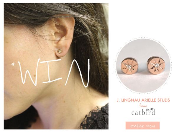 Win a pair of earrings from Catbird!
