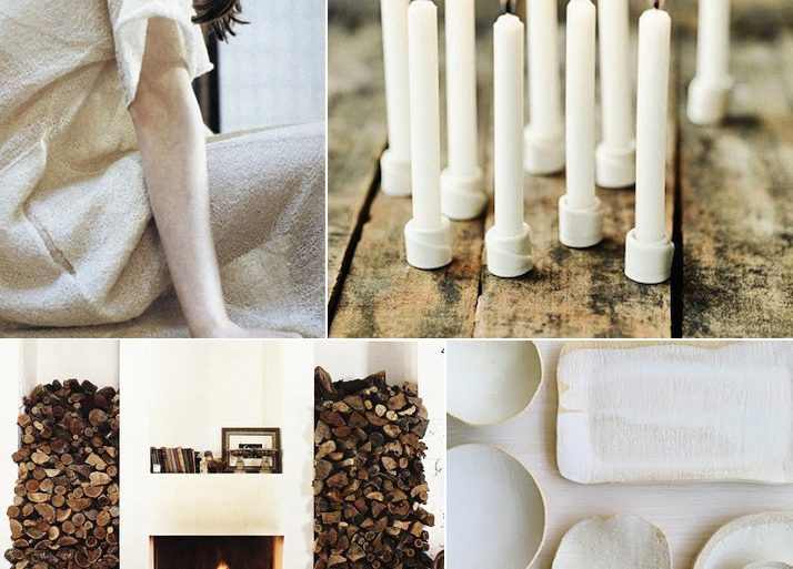Cozy Winter Modern White Brown Wedding Ideas