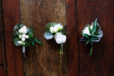 Green And White Wedding Boutonnieres