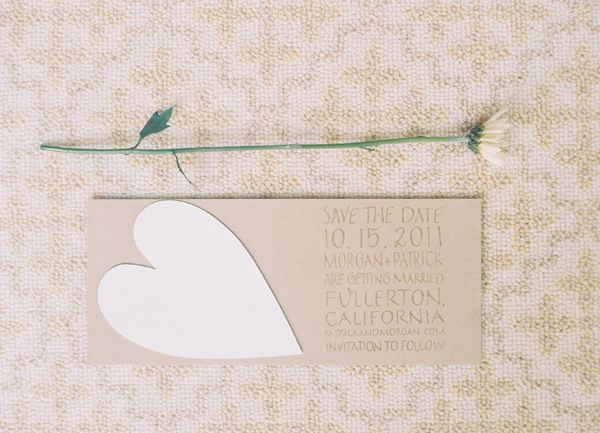 Kraft Paper Save The Date Ideas