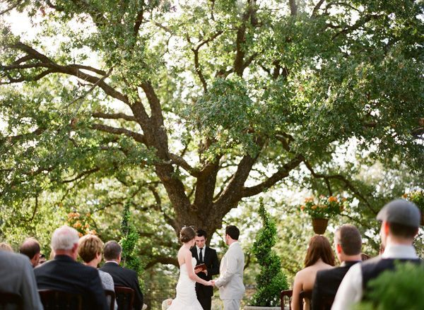 Outdoor Oak Tree Wedding Ceremony