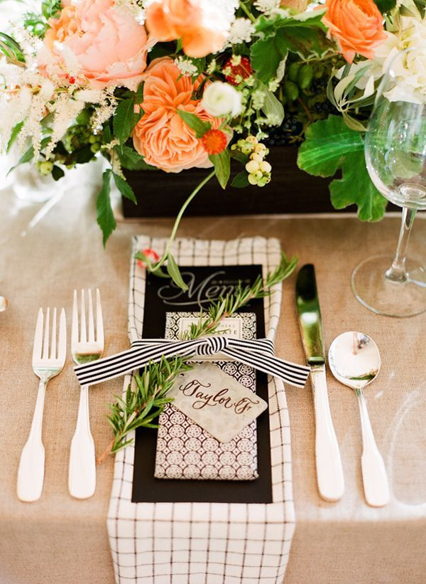 Wedding Menu Placecard Ideas